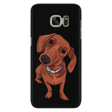 Dachshund Smart Phone Case for Samsung Galaxy, Funny Gift for Cute Dog Lovers