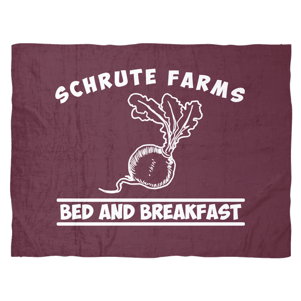Schrute Farms Bed n Breakfast Beets Fleece Blanket for Women Men Kids Boys Girls