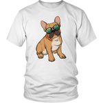 French Bulldog Sunglasses Funny Tee Shirt, Gifts for Dog Puppy Lovers