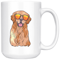 Golden Labrador Retriever White Coffee Mugs, Funny Gift for Dog Lovers