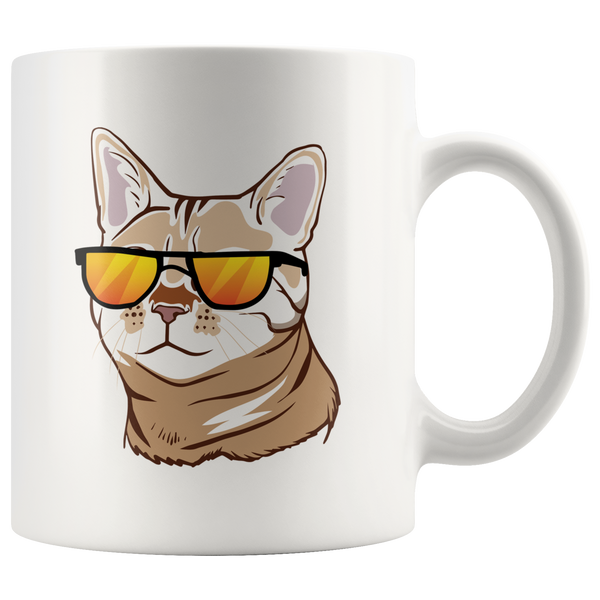 Bengal Cat White Coffee Mug 11oz, Cat Lover Gifts 9187A