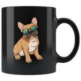 French Bulldog Black Coffee Mugs, Cute Gift for Cute Dog Lovers