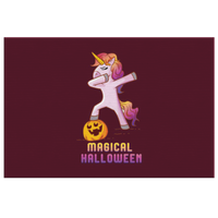 Dabbing Halloween Unicorn Wall Decor Canvas, Gifts for Pumpkin Candy Treat Scary Trick
