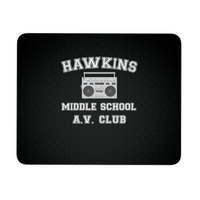 Stranger Hawkins Middle School Mousepads for Women Men Kids Gamers Things A V Club