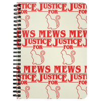 Justice for Mews Journal Diary Spiralbound Notebook, Christmas Gifts for Cat Lovers