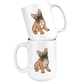 French Bulldog White Coffee Mugs, Cute Gift for Cute Dog Lovers