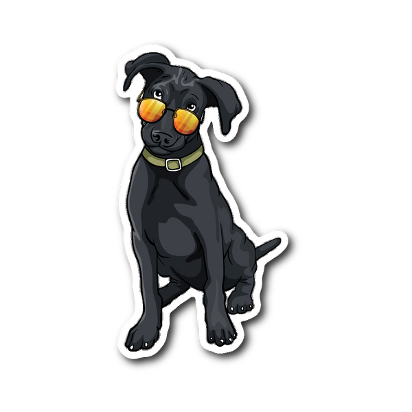 Black Labrador Sticker, Cute Gift for Cute Dog Lovers
