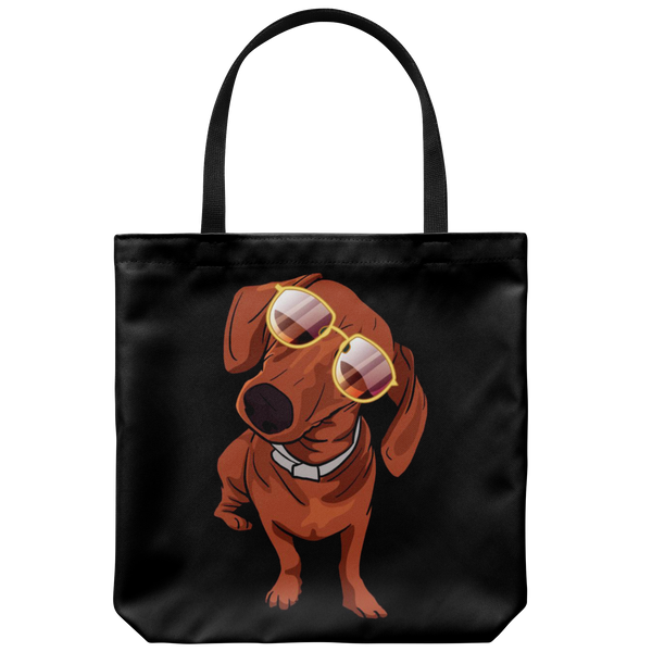 Dachshund Tote Bag, Funny Gift for Cute Dog Lovers