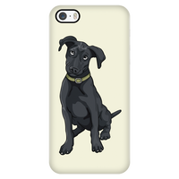 Black Labrador Smart Phone Case for iPhone, Funny Gift for Cute Dog Lovers