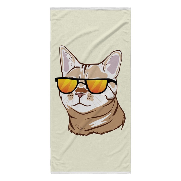 Bengal Cat Beach Towel, Cat Lover Gifts 9187A