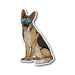 German Shepherd Sticker, Cute Gift for Dog Lovers