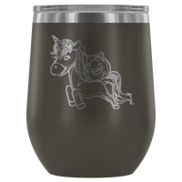 Halloween Unicorn Pumpkin Wine Tumbler, Gifts for Trick Treat Party