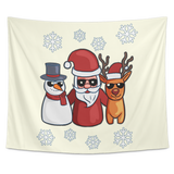 Snowman Santa Reindeer Wall Hanging Tapestry, Christmas Gifts for Snow Lovers