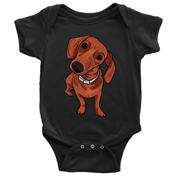 Dachshund Baby Romper Bodysuit, Funny Gift for Cute Dog Lovers