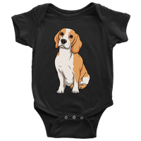 Beagle Baby Romper Bodysuit, Funny Gift for Cute Dog Lovers