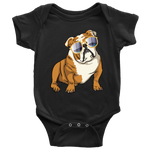 Bulldog Baby Romper Bodysuit, Cute Gift for Cute Dog Lovers