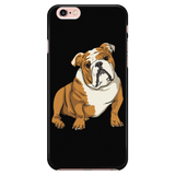 Bulldog Smart Phone Case for iPhone, Funny Gift for Cute Dog Lovers