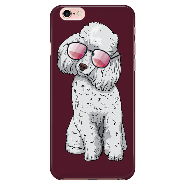 Poodle Dog Sunglasses Funny Phone Case for iPhone, Gifts for Dog Puppy Lovers