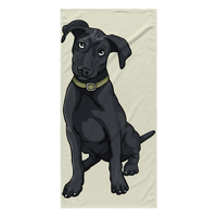 Black Labrador Beach Towels, Funny Gift for Cute Dog Lovers