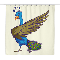 Peacock Shower Curtain, Bird Lover Gifts