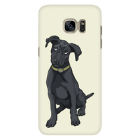 Black Labrador Smartphone Case for Samsung Galaxy, Funny Gift for Cute DogLovers