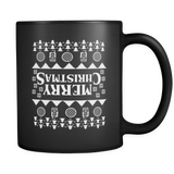 Merry Christmas Fair Isle Stranger Upside Down Things Funny Coffee Mugs for Men Women