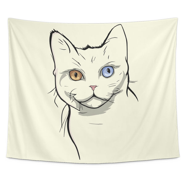 American Wirehair Cat Wall Hanging Tapestry, Cat Lover Gifts 9185