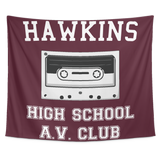 Hawkins High School Wall Hanging Tapestry, Christmas Gifts for AV Club Lovers