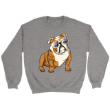 Bulldog Unisex Sweatshirt, Cute Gift for Cute Dog Lovers
