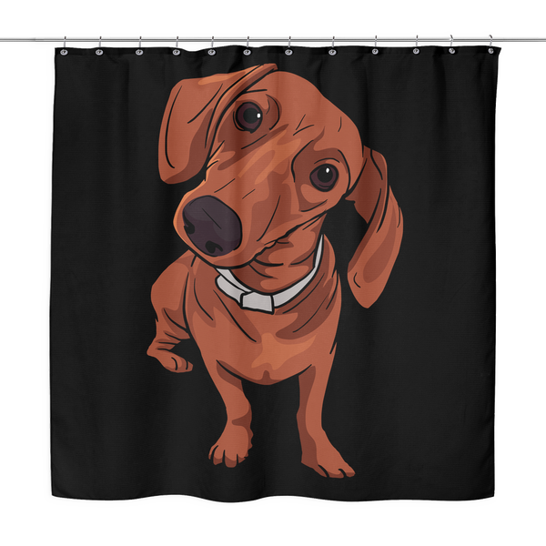 Dachshund Shower Curtains, Funny Gift for Cute Dog Lovers