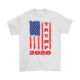 Trump 2020 USA Flag T-Shirt, Gifts for Republicans Conservative