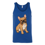 French Bulldog Unisex Tank Top, Funny Gift for Cute Dog Lovers