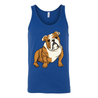 Bulldog Unisex Tank Top, Funny Gift for Cute Dog Lovers