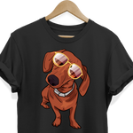 Dachshund wth Sunglasses Funny Tee Shirt for Men Women Boys Girls Kids, Gifts for Dog Puppy Lovers