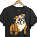 Bulldog Sunglasses Funny Tee Shirt for Men Women Boys Girls Kids, Gifts for Dog Puppy Lovers