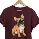 French Bulldog Sunglasses Funny Tee Shirt for Men Women Boys Girls Kids, Gifts for Dog Puppy Lovers