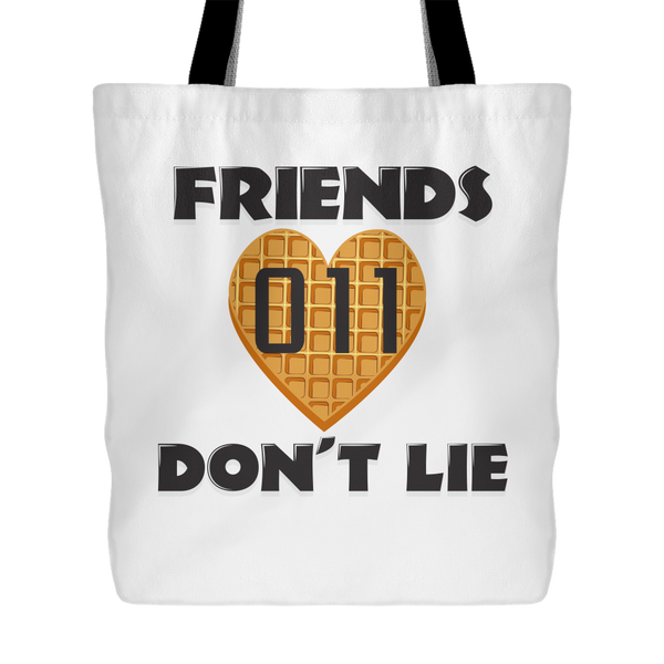 Friends Don't Lie Stranger  Heart Shaped Waffle Eleven Funny Tote Bag for Women