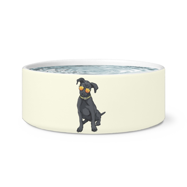 Black Labrador Dog Bowl, Cute Gift for Cute Dog Lovers