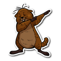Groundhog Day Funny Dabbing Dance Groundhog Sticker Car Bumper Decal Stickers