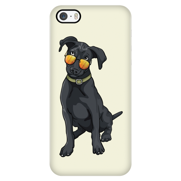 Black Labrador Smart Phone Case for iPhone, Cute Gift for Cute Dog Lovers