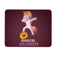 Dabbing Halloween Unicorn Mouse Pad, Gifts for Pumpkin Candy Treat Scary Trick