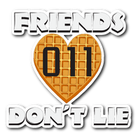 Friends Don't Lie Stranger Waffle Heart Shaped Eleven Car Bumper Decal Laptop Sticker