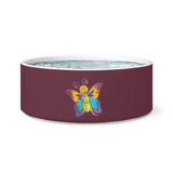Butterfly Pet Dog Bowl, Moth Lover Gifts