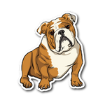 Bulldog Sticker, Funny Gift for Cute Dog Lovers