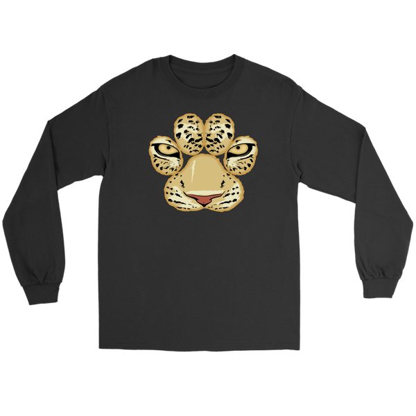 White Tiger Paw Face Long Sleeve T Shirt for Men and Women