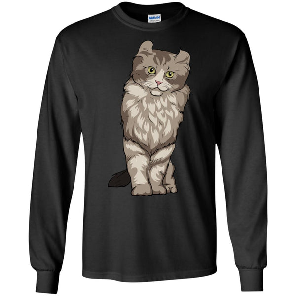 American Curl Cat Long Sleeve Shirt, Cat Lover Gifts 9183