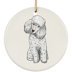 Poodle Dog Ornament Christmas Tree Ornaments Holiday Decor