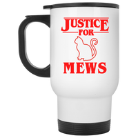 Justice for Mews Travel Coffee Mug, Christmas Gifts for Cat Lovers