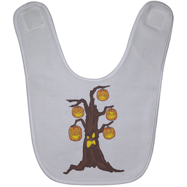Halloween Pumpkin Tree Baby Bib, Gifts for Candy Treat Scary Trick