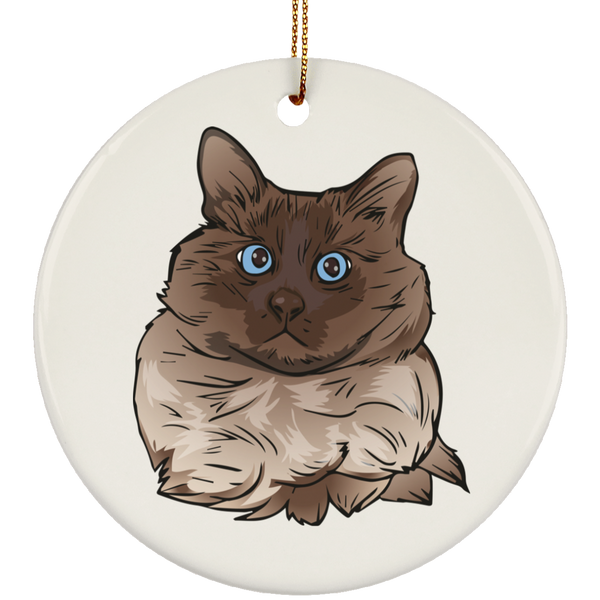 Balinese Cat Ornament Christmas Tree Ornaments Holiday Decor